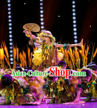 Cornfield Fairytale Kids Dance Costumes and Hat