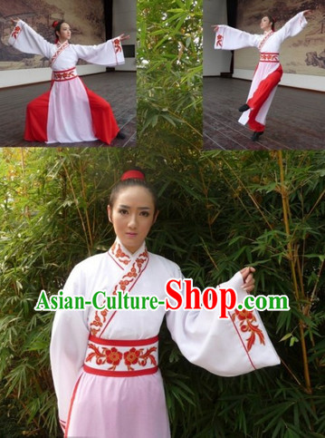 Chinese Classical Dance Shan Wu Cang Qiong Costumes with Red Pants