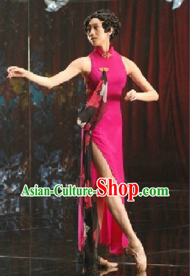 Chinese Classical Dance Cheongsam Costumes