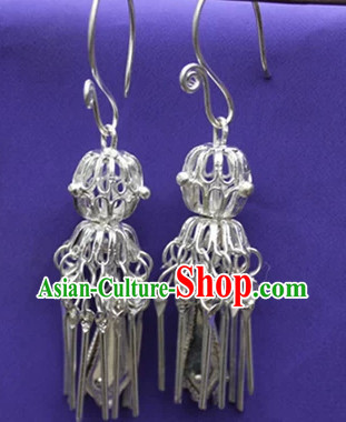 Traditional Miao Silver Earrings