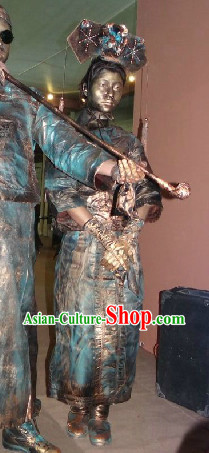Action Art Living Sculpture Qing Dynasty Princess Props Costumes Complete Set
