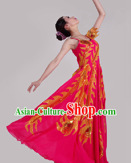 Red Phoenix Dance Costumes for Women