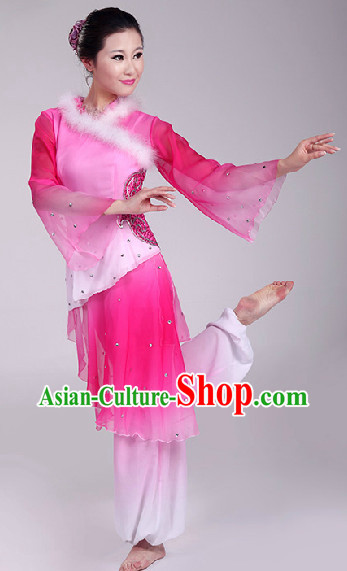 Pink Spring Festival Dance Costumes