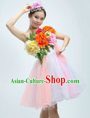 Short Style Floewrs Dance Costumes