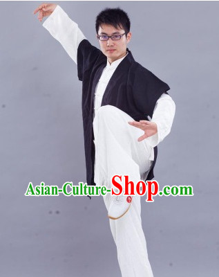 Traditional Chinese Kung Fu Silk Uniform with Vest