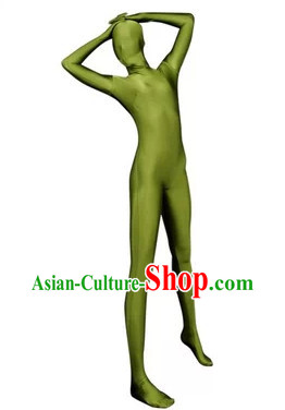 Light Green Stage Performance Bodysuit Lycra Spandex Dance Costume