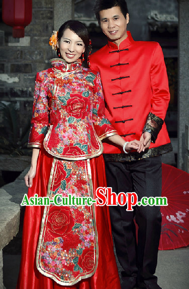 Traditional China Wedding Dresses for Men and Women