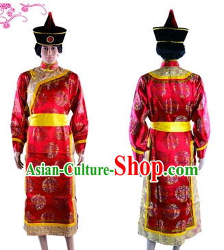 Mongolian Outfit and Hat for Men