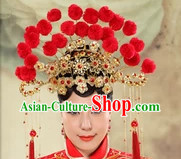 Red Wedding Headdress for Brides