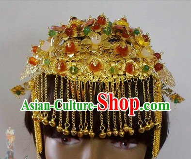 Gold Wedding Ceremony Headwear