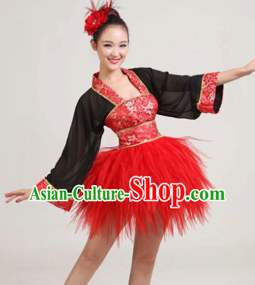 Traditional Short Hanfu Changed Style Dance Costumes
