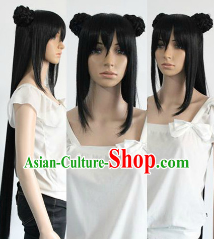 Ancient Chinese Princess Black Long Wig