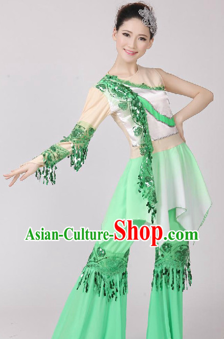 Chinese Fan Dancing Costume