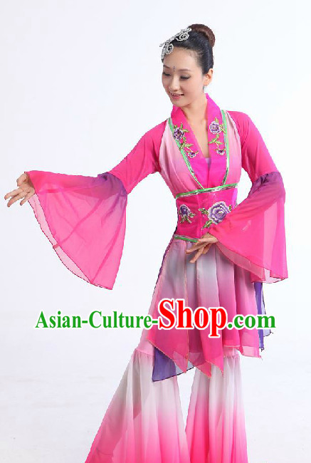 Chinese Classic Yangge Dancing Suit for Girls