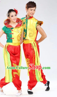 Stage Performance Dragon Dancer Suit for Men or Women