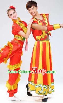 Stage Performance Yangge Dancing Costumes for Men or Women
