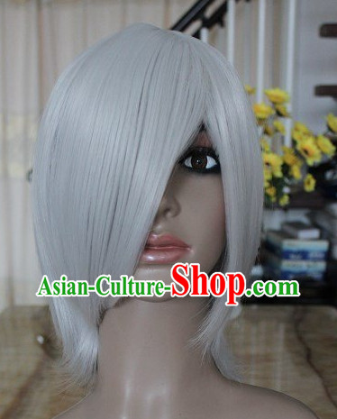 Ancient Chinese Grey Wig for Men