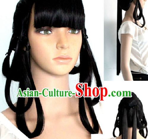 Ancient Chinese Style Long Black Wig for Women
