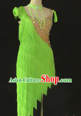 Professional Custom Made Latin Competition Dancing Long Skirt