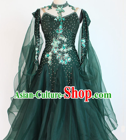 Special Custom Made Ballroom Dancing Long Skirt for Women