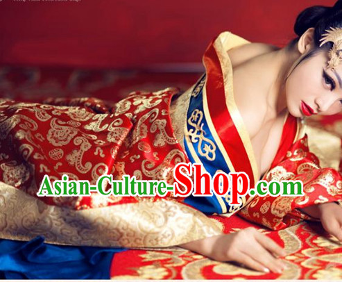 Ancient Chinese Sexy Tang Dynasty Concubine Clothes