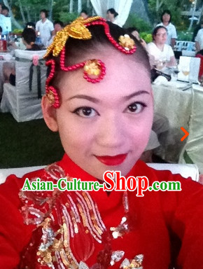 Traditional Chinese Handmade Hairpin for Professional Dance Use