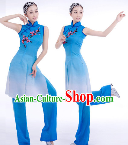 Chinese Classical Plum Blossom Ballet Dance Costumes and Hair Accessories for Women