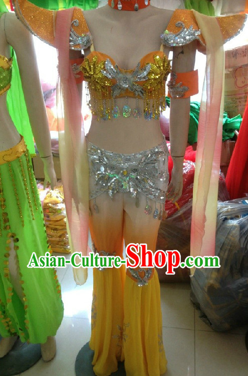 Professional Custom Make Stage Performance Indian Belly Ribbon Dancing Costumes