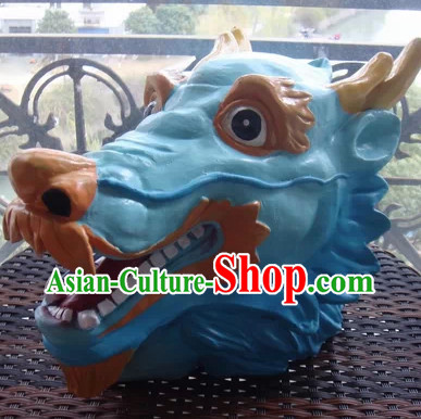 Stage Performance Blue Dragon Mask