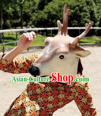 Stage Performance Spotted Deer Head Mask