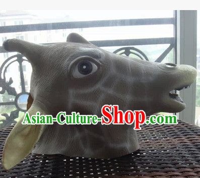 Stage Performance Giraffe Head Mask