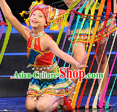 Yi Ethnic Minority Dance Costumes Complete Set