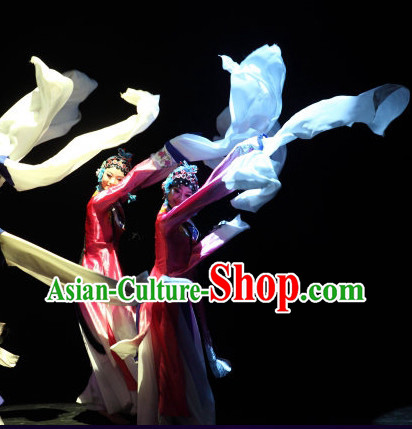 Peking Opera Hua Dan Dance Costumes and Hat for Kids or Adults