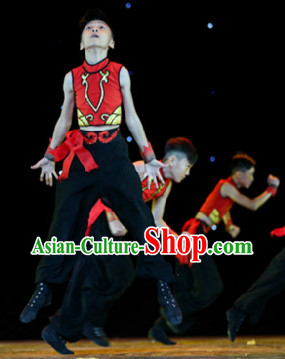 Traditional Chinese Mandarin Stage Performance Dresses for Men