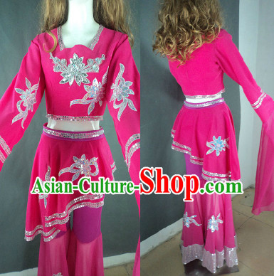 Middle School Students Professional Stage Performance Long Sleeves Dance Costumes