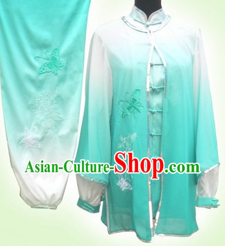 Color Transition Tai Chi Martial Arts Outfit and Cape for Women