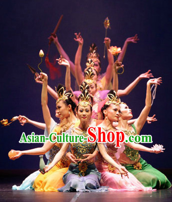 Flying Goddness Dance Costumes and Headwear Complete Set for Women