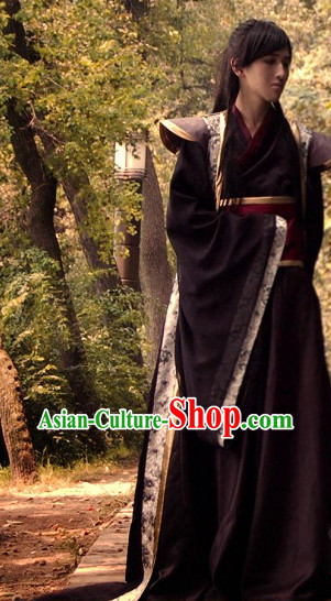 Ancient Chinese Black Knight Costumes