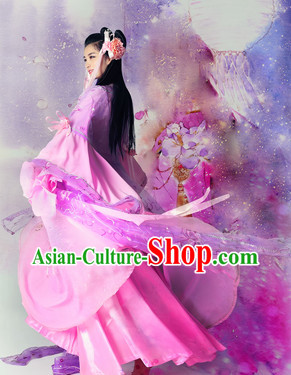 Ancient Chinese Fairy Dance Costumes Complete Set