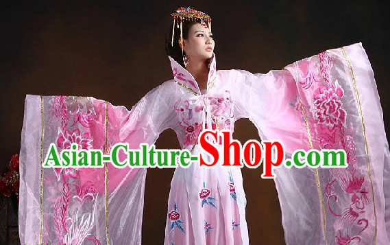 Ancient Chinese Empress Embroidered Clothes and Hair Accessories