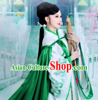 Ancient Green Swordsman Costumes for Women