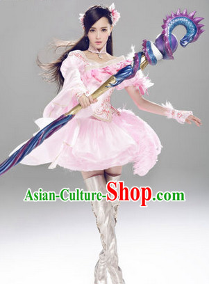 Internet Games Character Leading Actress Costumes and Hair Accessories
