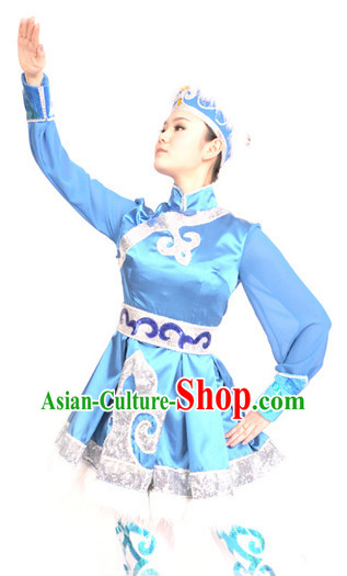 China Mongolian Suit and Headwear for Women
