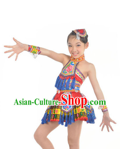 the Miao Nationality Outfit and Headwear for Women