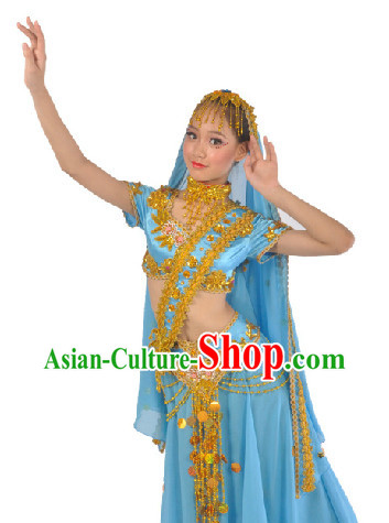 Indian Traditional Dancing Costumes and Veil for Women