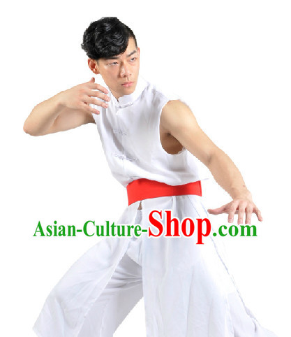 Chinese New Year Yangge or Fan Dance Costume for Men