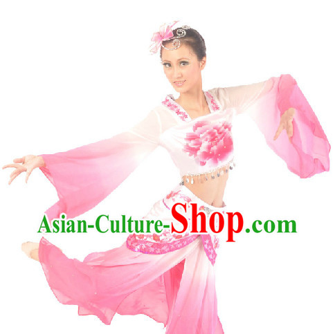 Chinese Classical Dancing Dress and Headdress for Women