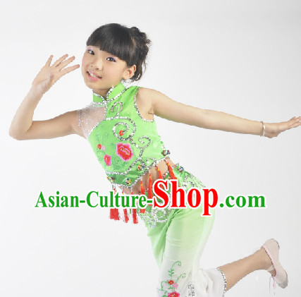 Chinese Children Fan Dancing Dress