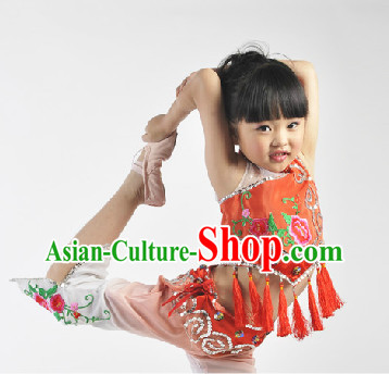 Chinese Children Fan Dance Suit