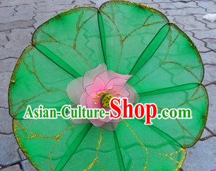 Handmade Lotus Leaf and Flower Dance Props